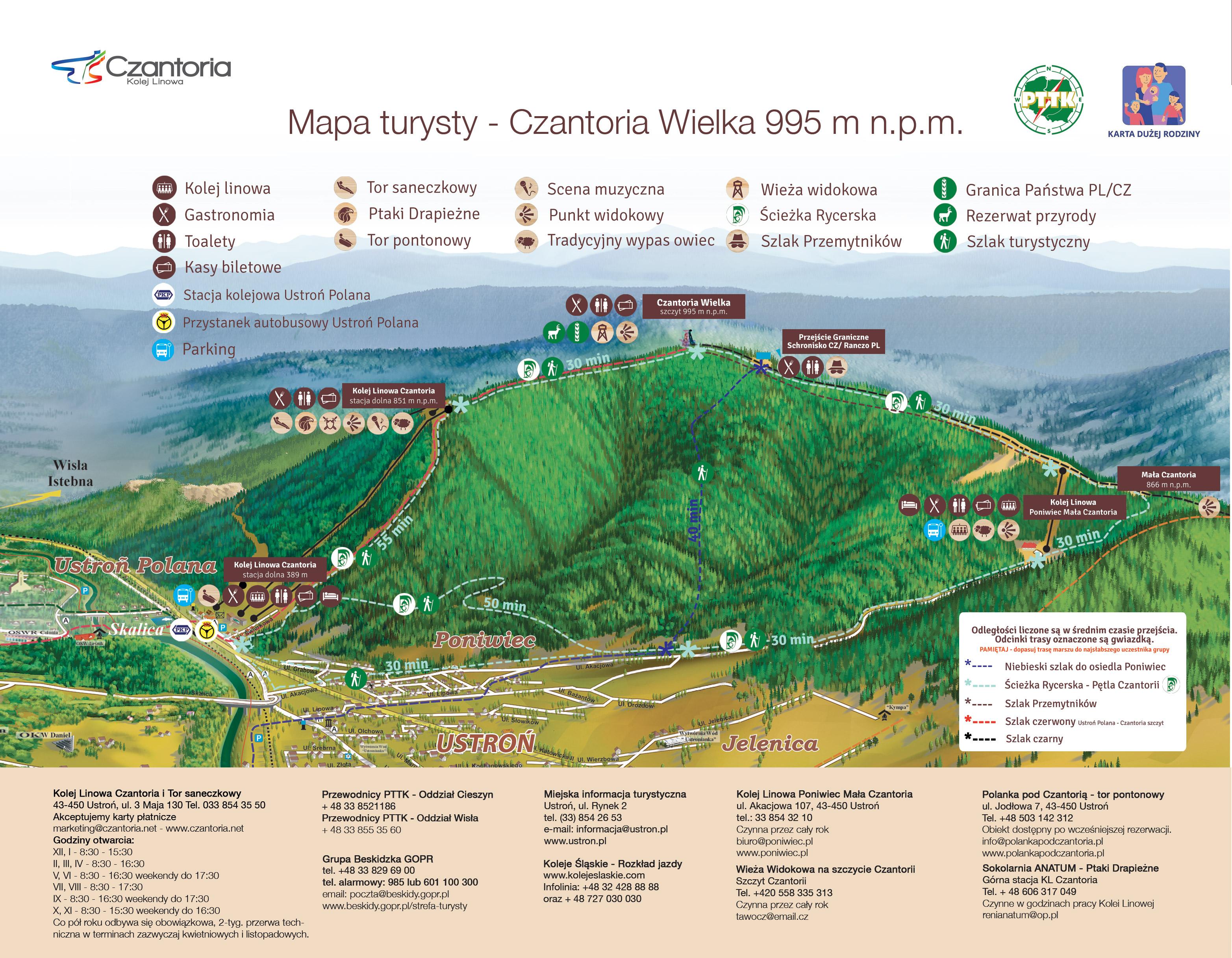 mapa-turysty-Czantoria PL